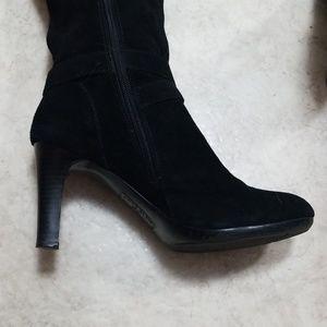 Anne Klein Shoes - Anne Klein Black Suede Boots